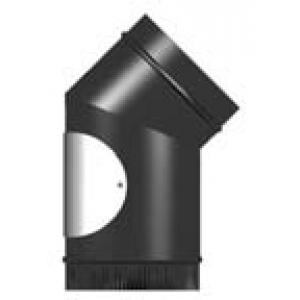 Vitreous Enamel 45° Elbow With Door 125mm