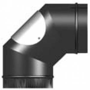 Vitreous Enamel 90 Degree Elbow With Door 125mm