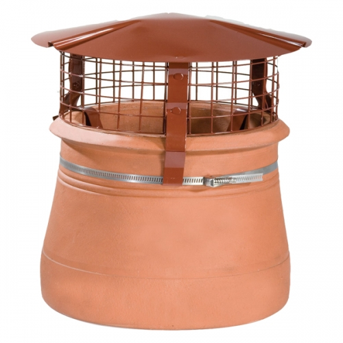 Brewer Birdguard Chimney Cowl Terracotta